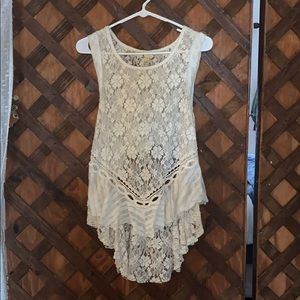 backless lace tank top